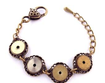 CLOSIND DOWN SALE Steampunk Vintage watch part clockwork bronze bangle bracelet