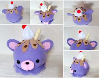 Cute Scoops- Blueberry Ice Cream-  READY TO SHIP