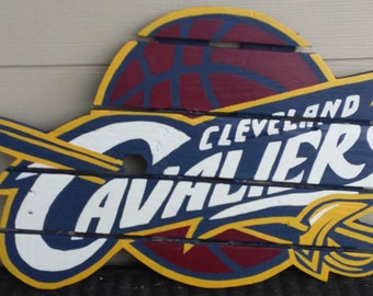 Cleveland Cavaliers sign made from recycled pallets, hand painted