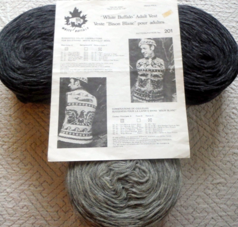 Knitting Supplies Canada : Knitting kit west coast vest cowichan style canadian wool