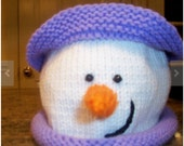 Baby Girl Boy Snowman Hat Pattern / Knit your own Snowman Hat with earflaps / Baby phot prop patttern PATTERN for Earflap Hat  e-pattern