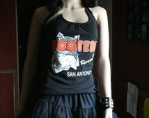 Hooters tank top halter neck upcycled small medium