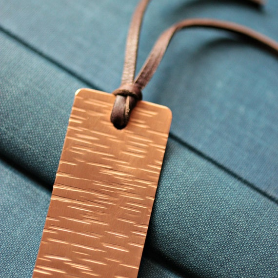 Hand Hammered Copper Waves Bookmark