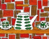 Retro Kitchen; Lindberg Ceramics: A4 Reproduction