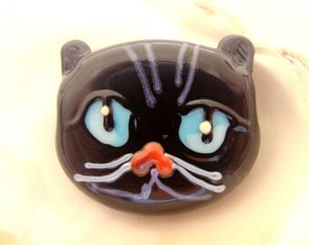 Black Cat Handmade Lampwork Bead