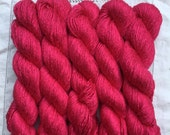 Silk Yarn Hand Dyed Worsted weight - Cerise Rose