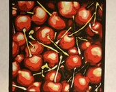 Cherries - Original Linocut Print