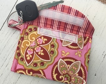 Key Ring Wallet/Card Holder - Amy Butler Lotus Paisley