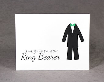 Thank you for being our Ring Bearer Card, Thank You Ring Bearer Card, LS1