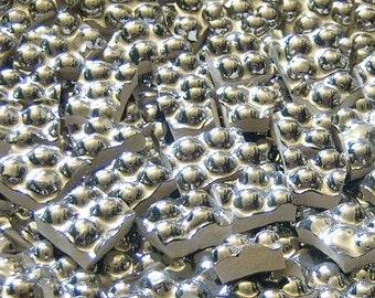 Mosaic Tiles--Silver Goosebumps---100 tiles