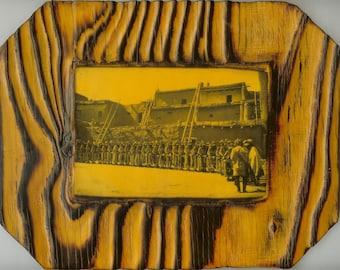 Rain Dance - Zuni Pueblo - Native American -  Wooden Plaque