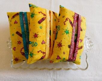 Set of 3 Tissue Holders,Teacher Themed Tissue Holdersw/tissues,Teacher Gift; Teacher love