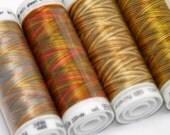 Brown Threads, Variegated Thread, Embroidery Thread, Thread Painting, Thread Art, Mettler Poly Sheen, Multi Sheen Threads, Quilt Thread, Sew