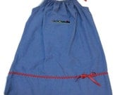 Childs Blue Denim Ladybug Pillowcase Dress Size 4 to 5