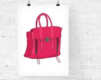 Phillip Lim Pashli Handbag Fashion Illustration Art Print