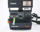 Vintage Black Polaroid Supercolor 635CL Instant Camera