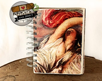 Goddess of Love - Wire-Bound Recycled Art Journal