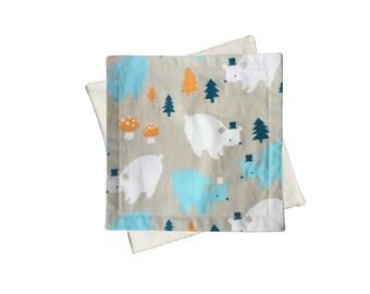 CLEARANCE Organic Wash Cloths | Bears (set of 2)