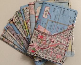 Slim Wallet- Vintage Seattle map- Choose 1