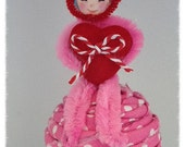 Valentine Decoration Small Valentine  Cutie on a Cupcake Valentine Ornament  Valentine Party