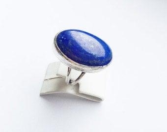 Unique SILVER with Lapis Stones ring