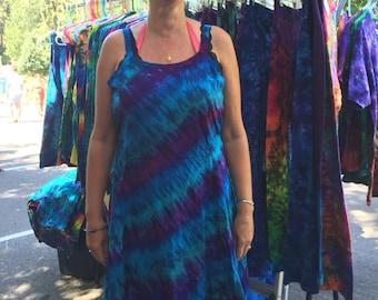Deep Space Tie Dyed Short Flow Festival Summer Dress
