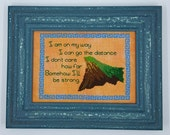 """Hercules """"I Can Go The Distance"""" Cross Stitch - Pattern Download"""
