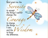 "6"" Fabric Art Panel - Serenity Prayer"