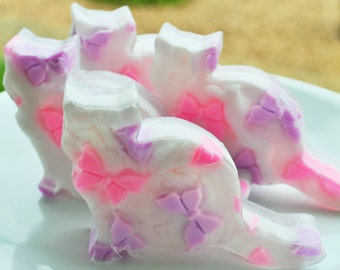Cat Lovers Soap - Hand Crafted Cat Soap - Butterfly Cat Soap - Crazy Cat Lady Soap - Cats Meow Soap - Party Favor Cat Soap - Wedding Favors