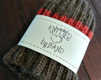 Printable PDF KNIT Dishcloth Label Wrappers - Knitted by Hand with a Heart for Handmade Wash Cloths or Knitted Crafts