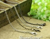 30% OFF SALE - 4pcs Silver /  Bronze / Shinny Silver  Finished Twisted Chains