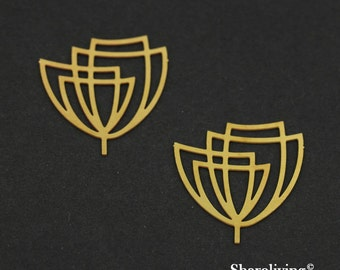 Exclusive - 8pcs Raw Brass Flowers Charm / Pendant, Fit For Necklace, Earring, Brooch - TG116