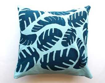 Split Leaf Throw Pillow - Boho Beach Decor