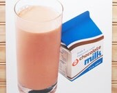 Vintage School Poster National Dairy Council Print Chocolate Milk Photo 1986