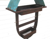 Bird feeder Sculptural Steel & Copper Bird Feeder No. 326 - Freestanding unique modern birdfeeder