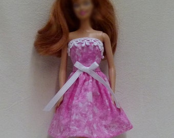 Pink Handmade Doll Dress for 1/6 scale dolls