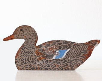 Vintage Metal Duck Decoy