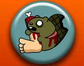 Zombie Beaver - Button / Magnet / Bottle Opener / Pocket Mirror / Keychain - Undead Animal - Sick On Sin