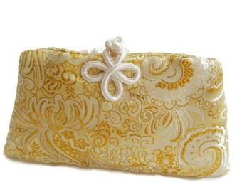 Gold Clutch , Gold Evening Bag , Evening Clutch Bag , Clutch Purse , Brocade Bag , Unique Evening Bag , Small Purse , Small Evening Bag