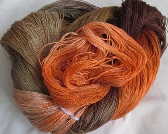 Handpainted 5-2 Egyptian Cotton Yarn    SWEET POTATO-525 yds.