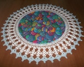 Crocheted Doily Easter Egg 18 inches Doilies Centerpieces