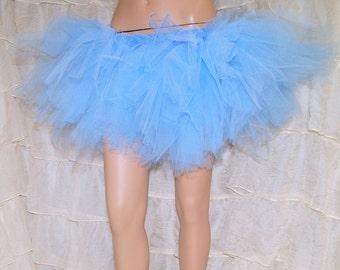Baby Blue Pastel Trashy TuTu Skirt Adult Medium MTCoffinz - Ready to Ship