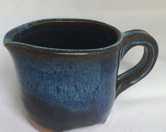 handmade blue ceramic pitcher -  pottery- stoneware - serving -in stock- gift P2