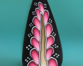 Pink Polymer Clay Feathered Leaf Cane -'Moonlit Rose' (41A)