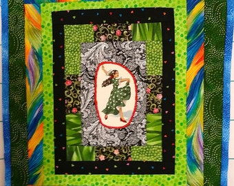 Flamenco Dancer Applique Art Wall Hanging