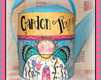Apple Tree Cottage Original Design E Pattern -Garden Thyme Watering Can