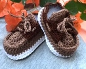 Baby Bootie- Creme Brulee Exclusive Top-siders for your stylish little man