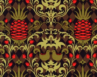 Patty Young Fabric, Andalucia, Birdie Damask - 1 FAT QUARTER
