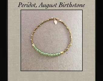 SALE 20%OFF August Birthstone Bracelet Peridot Bracelet Birthstone Gift Peridot Jewelry Bridesmaids Gifts Jewelry Gift Idea for Her