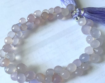 1/2 strand of lilac chalcedony onions WHOLESALE PRICES